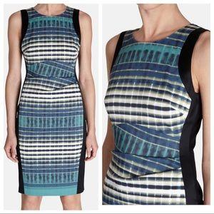 Karen Millen sheath dress abstract print 8